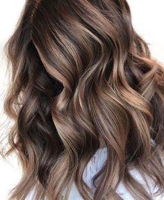Long Wavy Ash-Brown Balayage - 20 Light Brown Hair Color Ideas for Your New Look - The Trending Hairstyle Coffee Brown Hair, Honey Brown Hair, Chocolate Brown Hair Color, Brown Ombre Hair, Brown Hair Balayage, Light Brown Hair, Brown Hair Colors, Blonde Balayage, Ash Brown