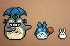 Totoro Bead Sprites Hama Perler by strepie93.deviantart.com on @DeviantArt