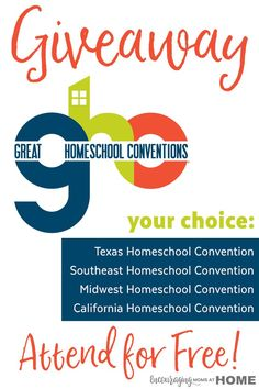 Great Homeschool Conventions giveaway