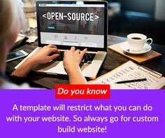 Do you know: A template will restrict what you can do with your website. So always go for custom build website!    #digital #NYC #websitemanagementtools #SEOtools #digital #marketing #website #design #business #NewYork #DigitalSecurity #Cloud #OnlineSecurity #Security #CyberSecurity