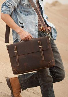 Leather briefcase. I love a good man purse