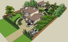 backyard design – Gardening Tips House Landscape, Landscape Plans, Landscape Architecture, Landscape Design, Patio Design, Garden Design, House Design, Country Landscaping, Backyard Landscaping