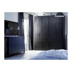 """HEMNES Door - standard hinges, 19 5/8x90 1/8 """" - IKEA   just for looks...add molding to sliding doors.... single doors for bed flanked lights  -03.26.2016"""