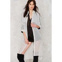 J.O.A. Over and Out Sheer Trench Coat (€63) ❤ liked on Polyvore featuring outerwear, coats, white, white rope belt, rope belt, draped trench coat, trench coat and white coat