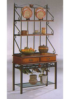 Napa Valley Oak and Metal Baker's Rack | Coaster | Home Gallery Stores