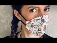 Easy Face Masks, Diy Face Mask, Diy Mask, Facial Masks, Arts And Crafts, Make It Yourself, Sewing, Youtube, Creative