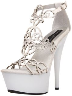 The Highest Heel Women's Amber-531 Platform Sandal,White Patent,12 M US. Brand new first quality Sexy Shoes. Great accessory for any Adult Sexy costume. This posting includes: Highest Heel AMBER-531 White Patent PU Size 12. Please note that only the items listed above are included.