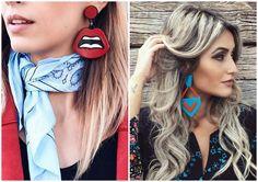 BRINCO DE ACRÍLICO | Os coloridos são os acessórios perfeitos para levantar qualquer look. Combinam com pessoas que gostam de se vestir colocando sua personalidade no look.