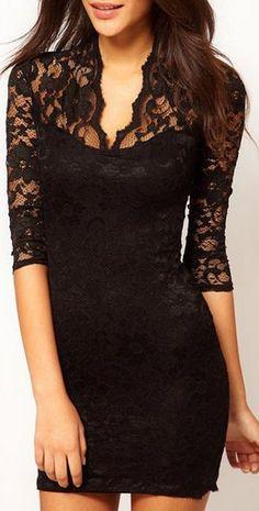 Little Black Lace Dress ❤︎ #lbd