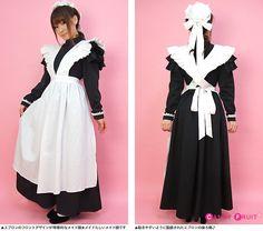 メイド服ロングの決定版!中世メイド服を忠実に再現したクラシックなロングメイド服 ヴィクトリアンメイド服