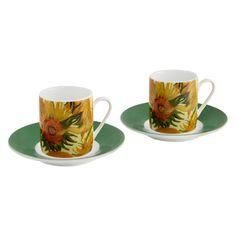 £14.95 - Sunflowers Espresso Set. Featured in Aberdeen Press and Journal.