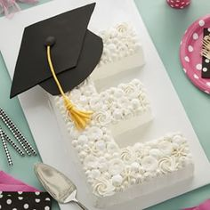 This elegant letter cake would make the most special centerpiece at your celebration, one your graduate would be sure to love! Tag a graduate and share this cake with them! Link in profile . . . . #wiltoncakes #cakes #cakesofinstagram #cakestagram #cakestyle #cakesofig #cakesdaily #instacake #cakeoftheday #cakeideas #cakedecorating #cakedecorator #dessert #desserts #desserttable #treats #school #grad #graduation #graduationcap #graduate #graduates #graduationday #graduationparty