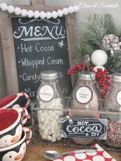 Mix up the traditional bar scene and add in a hot cocoa bar when planning your wedding! Fun for the kids and adults too, this is sure to be a highlight to your special night! The Garrison in the Hudson Highlands offers beautiful scenery, delicious food and a vibrant ambiance perfect for your special day. Check us out today and learn about our wedding packages! www.thegarrison.com #hotcocoabar #rusticweddings #winterwedding #weddingdecor #chocolate #hotcocoa #thegarrison #hudsonvalley…