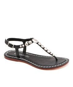 Take a look at this Black Leather Mojo Sandal by Bernardo on #zulily today!