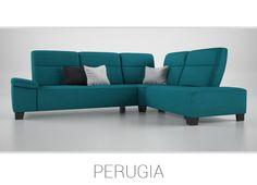 PERUGIA – Jedinečná rohová sedačka. Ak hľadáte komfort, potrebujete priestor a záleží Vám na bezhraničnom pohodlí, Perugia je to pravé. Je vyrobená pre zákazníkov, ktorí majú radi maximálne pohodlie a klasický dizajn. V rohovom vyskladaní má sedačka polohovateľné chrbtové opierky, ktoré umožňujú relaxovanie v sede alebo v miernom ľahu.
