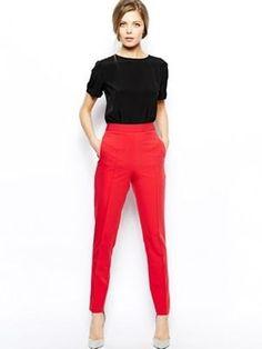 pantalon rouge vif de asos