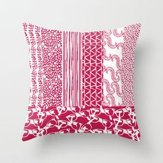Relaxed Geos Eye glasses – Red Throw Pillow by Bethania Lima Designs - A whole new collection around the theme of accessories, hand-drawn and decorated with relaxed geos  imagery, depicting scarves, shoes, hanbags and more! Spread the word!