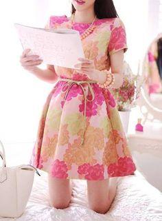 เดรสน่ารัก เดรสแฟชั่นผ้าดี สีสวยๆ [TT118]