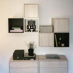 Ikea 'Valje' boxes in organized entryway