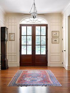 Beautiful transom and French doors