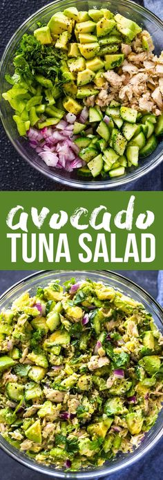 Tuna Avocado Salad Recipes is One Of Favorite Salad Recipes Of Many People Round the World. Besides Simple to Create and Great Taste, This Tuna Avocado Salad Recipes Also Health Indeed. Avocado Tuna Salad, Avocado Dessert, Avocado Salat, Avocado Toast, Keto Tuna Salad, Keto Avocado, Tuna Salad Recipes, Egg Salad, Easy Tuna Salad