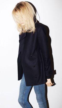 black peacoat + jeans!