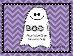 BOO!  Place Value Bingo - Tens and Ones