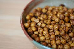 Roasted Chickpeas (Low calorie snack!!)