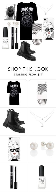 """Ramones"" by fandomsandfashion-492 ❤ liked on Polyvore featuring Boohoo, Dr. Martens, Casetify, Christian Dior and Kester Black"
