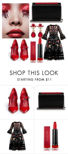 """""""RED"""" by polinncharmel ❤ liked on Polyvore featuring Dolce&Gabbana, Christian Louboutin, Max Factor and Givenchy"""