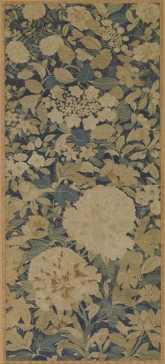 Kesi tapestry woven floral motif with polychrome silk thread. Song dynasty, 960-1279 China