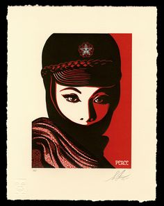 Image result for shepard fairey prints