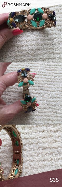 Jewelry Multi colored stones. None missing mint. Turquoise, emerald green, yellow J. Crew Jewelry Bracelets