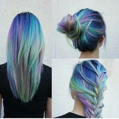 best, black, blonde, blue, blue hair, color, color hair, colors, cool, crazy, fashion, girl, girly, green, green hair, hair, hair color, hair style, light blue, light green, modern, original, pelo, purple, rainbow, styles, three, violet, violet hair