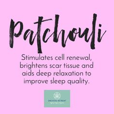 Patchouli is used for its calming effects on dry and irritated skins. Combined with lavender and clary sage it makes a great sleep remedy. Patchouli Essential Oil, Essential Oil Uses, Fun Fact Friday, Sleep Remedies, Deep Relaxation, Clary Sage, Doterra Oils, Medicinal Plants, Clear Skin