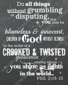Free Bible Verse Wall Art Download – Philippians 2:14-15