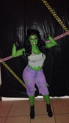 Billedresultat for she hulk costume diy She Hulk Costume, Hulk Halloween Costume, She Hulk Cosplay, Halloween Costumes For Girls, Comic Con Costumes For Women, Halloween 2017, Super Hero Outfits, Super Hero Costumes, Hollween Costumes