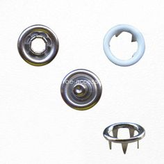 9.5mm White Prong Snap Button 4 Pieces