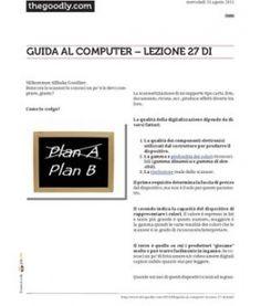 Lezione 27 (PDF) - LO SCANNER Parte 2. Termini la conoscenza di questo dispositivo.