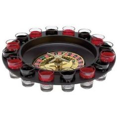 Shot Glass Roulette by Shindiggit.com New Drinking Game / Spinning Shot Glasses / Casino Night Theme Party / Las Vegas Drink / Unique Party Idea / Interactive Drinking Game