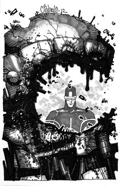 Because nobody destroys Sentinels with the efficiency of Cyclops - Chris Bachalo Cyclops Comic Art