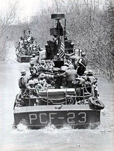 Combined U.S. Army–U.S. Navy forces operating in the Mekong Delta in April 1969. Heroes!: