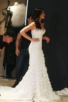 #gorgeous #bride #wedding #dress #gown #white #ruffles #frills #events #inspiration