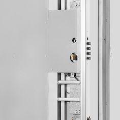 Refuerzo de chapa galvanizada en cerradura