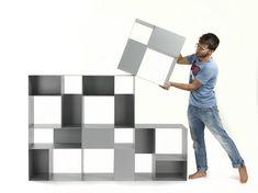 Libreria modulare in metallo B-302 by Mara design BICUBE DESIGN                                                                                                                                                                                 More