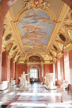 Ceiling Mural in the Louvre - Paris, France
