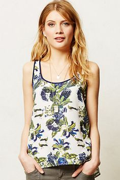 Pine Lily Tank #anthropologie  I've been into the botanical prints, i like this one