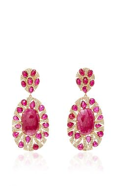 Ruby And Diamond Earrings by SUTRA for Preorder on Moda Operandi