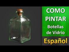 Como pintar en photoshop _ Botella de Vidrio ESPAÑOL - YouTube