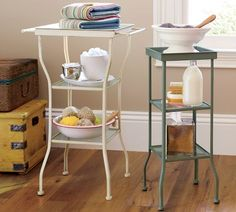 Painted Metal Accent Table - Small | Pottery Barn